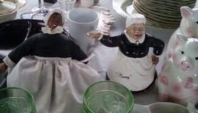 Mammy teapot and stuffed mammy in Baytown, Texas