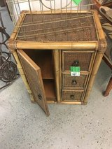"Wicker cabinet 1 door 3 draws 18""long 13""deep 24""tall in Conroe, Texas"