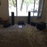 Yamaha Receiver and Klipsch Surround Sound Speakers and Subwoofer for sale in Barstow, California