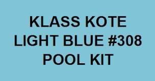 KLASS KOTE POOL PAINT 6 gallons Light Blue Satin #308 NEW IN BOX in Yucca Valley, California