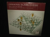 Drinking Glass Shot Glass Chess Game NEW in Naperville, Illinois