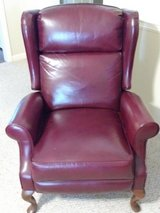Leather match Recliner Burgundy in Byron, Georgia