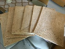 Set of 6 Woven Straw Rectangular Heavy  Placemats in Naperville, Illinois