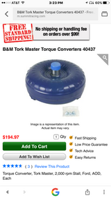 B&M Tork Master Torque Converter in Fort Polk, Louisiana