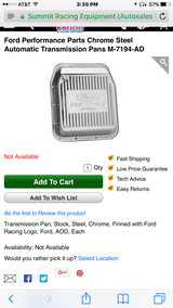 Ford Performance Chrome Steel Automatic Transmission Pan in Fort Polk, Louisiana