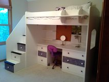 Berg Twin Loft Bed w/ Desk and Stairs **NEW PRICE** in Davis-Monthan AFB, Arizona