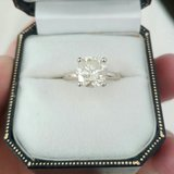 Huge 2.33 Carat Solitaire Diamond Ring White Gold $6,000 Or Best Offer Made in Fort Irwin, California