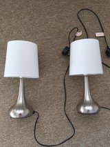 Small silver Lamps - not working in Lakenheath, UK