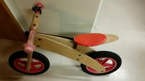 a wood bicycle for kids in Okinawa, Japan