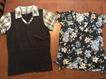 Two women's size M short sleeve dress tops from old navy & kohls in Perry, Georgia