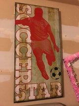 Soccer Wood Wall Decor in Naperville, Illinois