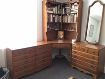 Solid maple corner desk with two matching dressers in Alconbury, UK