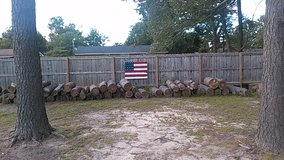 Rustic wooden pallet hand painted American Flags in Fort Bragg, North Carolina