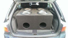 4x MB Quart Subwoofers with 2x Ported Boxes in Ramstein, Germany