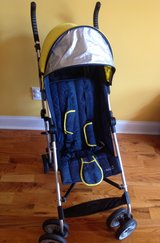 Baby/Toddler Summer Infant 3D Lite Stroller (max allowable weight 49 lbs) dark navy blue and yellow in Warner Robins, Georgia