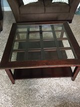 Stanley furniture coffee table with glass insert in Chicago, Illinois