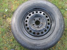 "2 - 14"" rims with 1 mounted car tire in Naperville, Illinois"