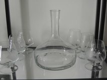 Decanter-etched with 4 masted ship in Baumholder, GE