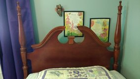 Twin 4 Poster Cherry Wood Bed Frame in Naperville, Illinois
