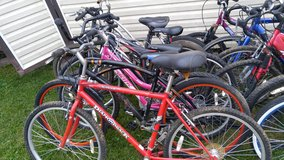 lot of high dollar bicyles in Fort Campbell, Kentucky