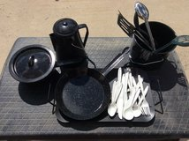 Coleman Camping cookware set (plus extras) in Naperville, Illinois