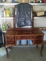 Antique Mahogany Vanity w/chair in Yucca Valley, California