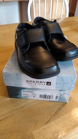 Toddler boy black dress shoes Size 9 wide in Chicago, Illinois
