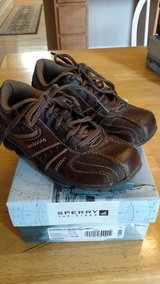 Toddler boy brown shoes, size 10.5 wide in Chicago, Illinois