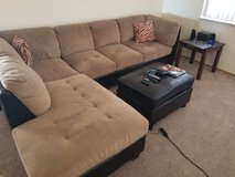 Sofa and table in Fort Irwin, California