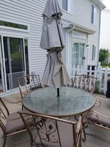 Patio Furniture - 5 chairs, cushions, table in Naperville, Illinois