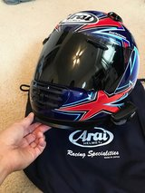 Arai Defiant Motorcycle Helmet with Sena 20S Bluetooth Transmitter in Fort Bliss, Texas