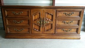 9 drawers dresser all solid wood with mirror in Fort Bliss, Texas