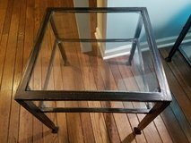 Wayfair Glass and Iron Side Table-New In box in Chicago, Illinois
