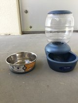 Food and water bowls for dog in Okinawa, Japan