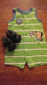 Boys Carters 0-3M One Piece w/Crib Sandals in Hinesville, Georgia