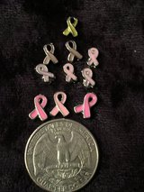 Pink ribbon charms in Fort Campbell, Kentucky