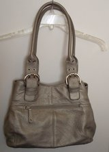 Tignanello  Silver Pebbled Leather Satchel in Kingwood, Texas