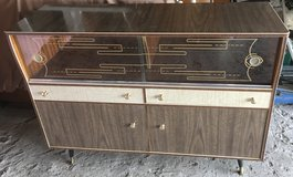 1950s Vintage Glass and Formica Cocktail Cabinet or Sideboard. in Lakenheath, UK