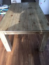 Wooden Dinning Table with chairs in Greenville, North Carolina
