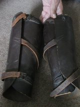 Vintage Leather WWII Era Shin Calf Guards in Naperville, Illinois