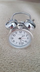 Sterling and Noble Silver Alarm Table Clock in Yorkville, Illinois