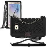 ***Samsung Galaxy S6 Braided Case With Chain Strap***BLACK in Kingwood, Texas