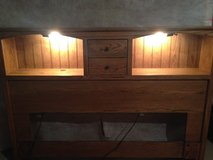 Lighted bookshelf headboard for Queen bed w/frames in Lockport, Illinois