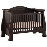 Black Crib - Converts to Full Size Toddler Bed in Great Lakes, Illinois
