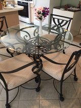 Breakfast table (wrought iron & glass) in Kingwood, Texas
