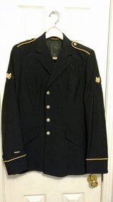 "Female ASU ""Dress Blue"" uniform: dark blue Coat & belted Blue Dress Slacks, etc in Fort Campbell, Kentucky"