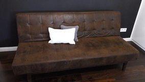New Velours leather couch/bed in Wiesbaden, GE
