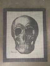 Skull Painting Frame Canvas 50x40cm in Ramstein, Germany