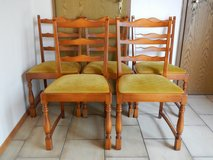6 Wood Dinning Room Chairs in Ramstein, Germany