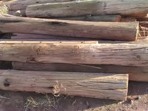 Wood posts in Alamogordo, New Mexico